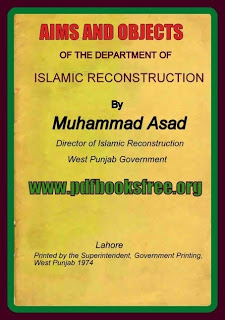 Aims And Objects of The Department of Islamic Reconstruction Pdf Free Download