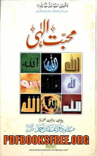 Mohabbat e Ilahi By Maulana Zulfiqar Ahmad Naqshbandi Free Download
